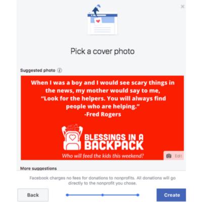 Step 5 Facebook Fundraiser